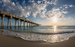 De pijler van Venetië Florida op de Golf van Mexico royalty-vrije stock afbeeldingen