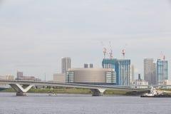 De pijlergebied van Tokyo Harumi Stock Afbeeldingen