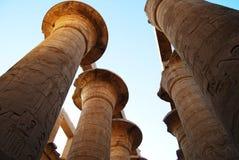 De pijlers bij de Karnak-Tempel, Luxor, Egypte royalty-vrije stock foto