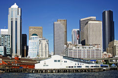 De pijlers van Seattle Stock Afbeeldingen