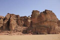 De Pijlers van Solomon in Nationaal Park Timna Stock Afbeeldingen