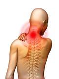 De pijn van de hals Stock Afbeeldingen