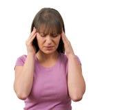 De Pijn van de hoofdpijn Stock Fotografie