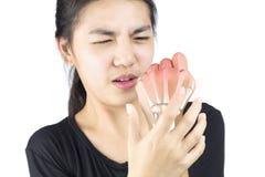 De pijn van het handbeen royalty-vrije stock afbeeldingen