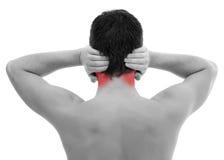 De pijn van het oor Stock Foto's