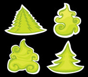 De pijnbomen van Kerstmis. Royalty-vrije Stock Afbeeldingen
