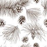 De pijnboom vertakt zich naadloos patroon vector illustratie