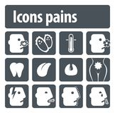 De pijnen van pictogrammen Royalty-vrije Stock Afbeeldingen