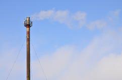De pijp van de schoorsteenstoom van industriële productieinstallatie Royalty-vrije Stock Foto
