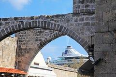 De pijp van het cruiseschip royalty-vrije stock foto's