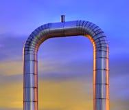 De pijp van het gas Stock Afbeeldingen