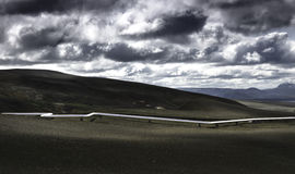 De pijp van IJsland Stock Fotografie