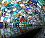De pijp van media Stock Afbeeldingen