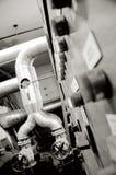 De pijpen van de industrie en de industriesystemen stock afbeelding