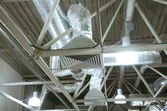 De pijpen van de ventilatie stock fotografie