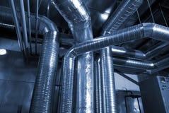 De pijpen van de ventilatie van een luchtvoorwaarde Royalty-vrije Stock Foto