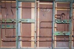 De Pijpen van het loodgieterswerk Stock Foto's