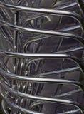 De pijpen van het metaal - voorraad van de stoelen van de aluminiumtuin Stock Afbeelding