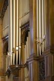De pijpen van het orgaan Stock Foto