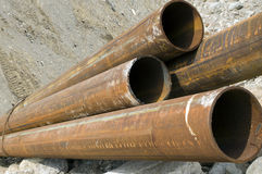 De pijpen van het staal Stock Fotografie