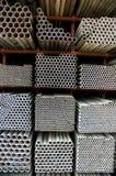 De pijpen van het staal Stock Afbeelding