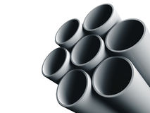 De pijpen van het staal. Royalty-vrije Stock Foto's