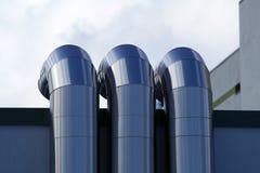 Pijpen van ventilatie stock afbeelding