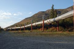 De Pijpleiding van Alaska Royalty-vrije Stock Afbeeldingen