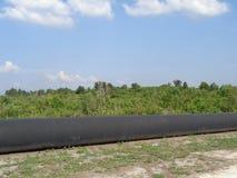 De pijpleiding van de olie Stock Foto