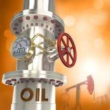 De pijpleiding van de olie - concept Stock Afbeeldingen