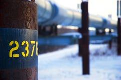 De Pijpleiding van de Olie trans-Alaska stock afbeeldingen