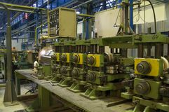 De pijpproductie van het titanium Stock Afbeelding