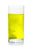 De pil van de vitamine lost in glas op royalty-vrije stock afbeelding