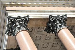 De Pilasters van het brons Stock Fotografie