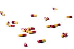 De Pillen van de amoxiciline stock afbeeldingen
