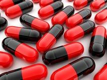 De pillen van de capsule op witte achtergrond Royalty-vrije Stock Afbeeldingen