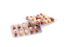 De pillen van de geneeskunde over wit Royalty-vrije Stock Foto's