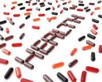 De Pillen van de gezondheid Stock Afbeelding