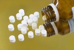De pillen van de homeopathie schussler stock afbeelding