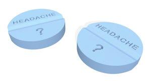De pillen van de hoofdpijn stock illustratie