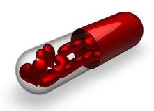 De pillen van de liefde Stock Foto's