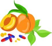 De pillen van de vitamine Stock Foto