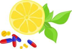 De pillen van de vitamine Stock Afbeeldingen