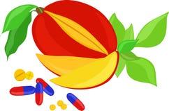 De pillen van de vitamine Royalty-vrije Stock Afbeeldingen
