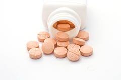 De pillen van de vitamine C Stock Foto's