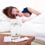 De pillen van het bed Stock Afbeelding