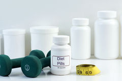 De pillen van het dieet Stock Fotografie