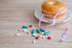 De pillen van het gewichtsverlies stock foto's