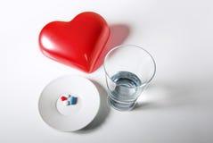 De pillen van het hart Stock Foto