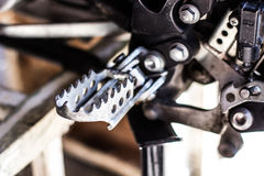 De pin van de motorfietsvoet Stock Foto